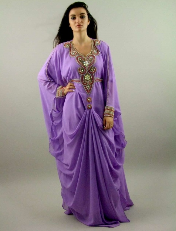 Purple Color Khaleeji Dress