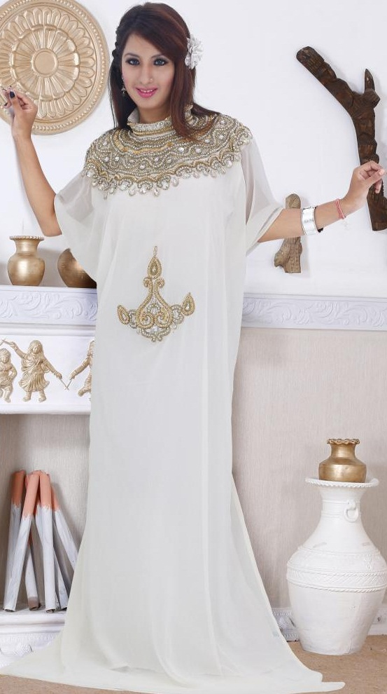 White Khaleeji Dress