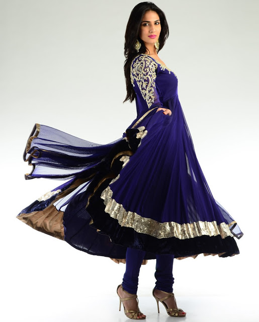 Blue Color Anarkali Women Dress